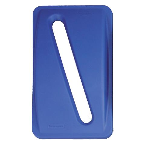 Veko s pozdľžnym otvorom modré