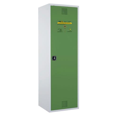 Certifikovaná uzamykateľná skriňa - zelená