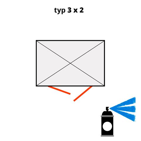 Dodatočný náter pre ekosklady 3 × 2 - modrá (RAL 5015)
