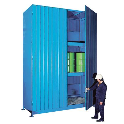 Vonkajší sklad s vysokou kapacitou pre skladovanie sudov