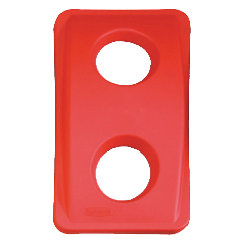 Veko s guľatými otvormi červené