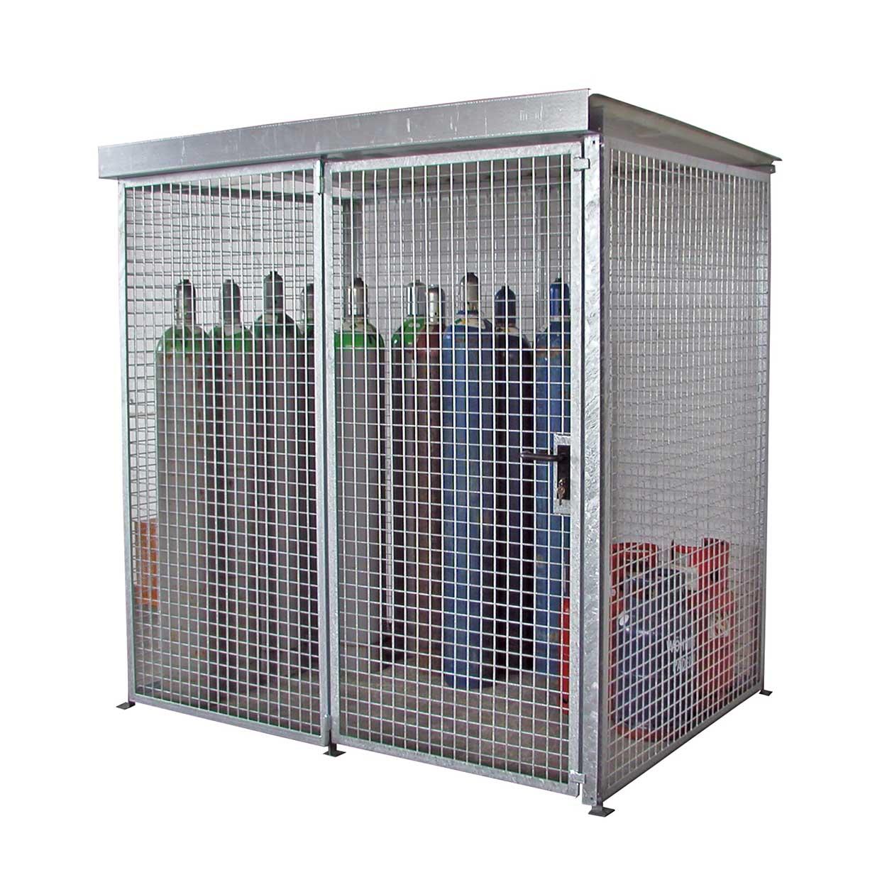 Klietka pre skladovanie tlakových fliaš bez podlahy a so str