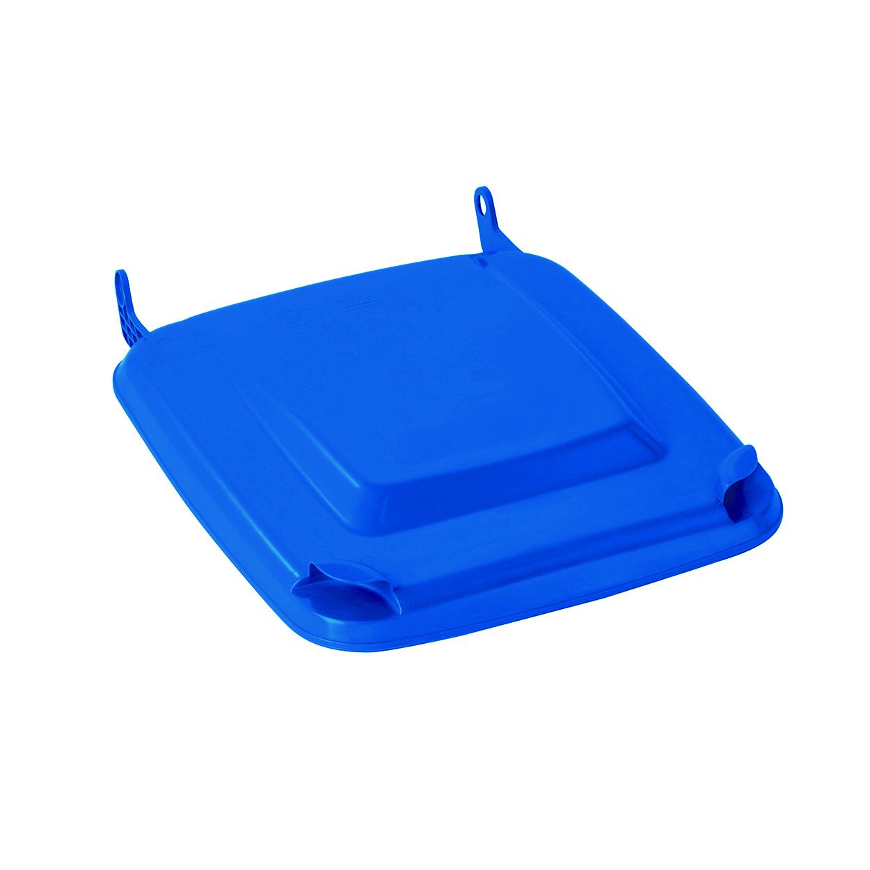 Veko k plastovej nádobe 240l, modré