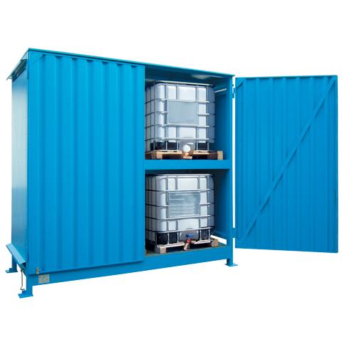 Vonkajší sklad pre skladovanie IBC kontajnerov