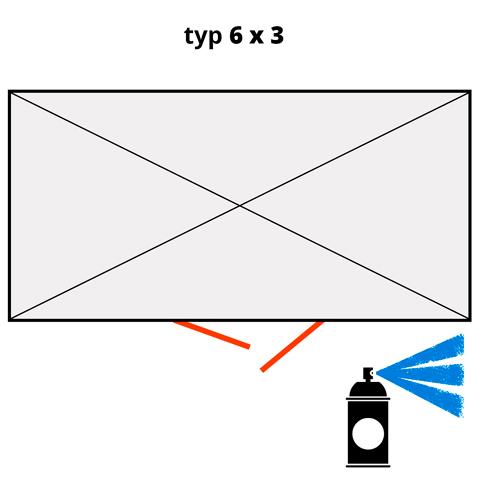 Dodatočný náter pre ekosklady 6 × 3 - modrá (RAL 5015)