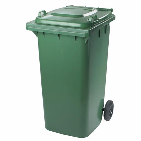 Plastová nádoba s kolieskami zelená