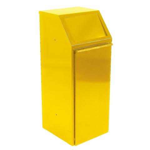 Kovový výklopný kôš 64 l, žltý
