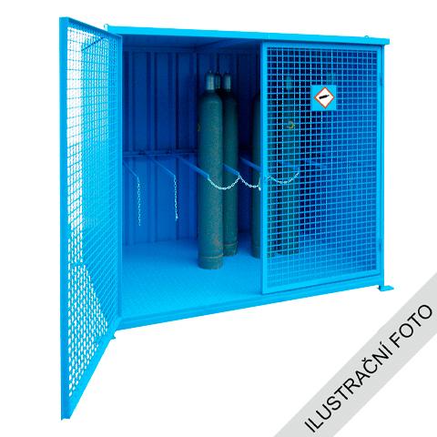 Klietka pre vonkajšie skladovanie tlakových fliaš - s podlah