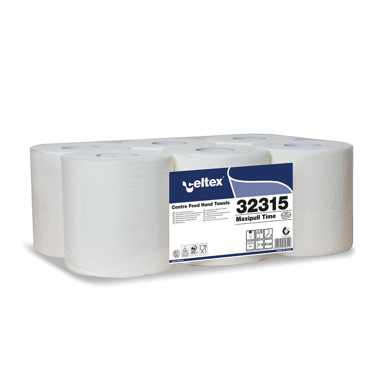 Papierové utierky v rolke so stredovým odvinom, biele