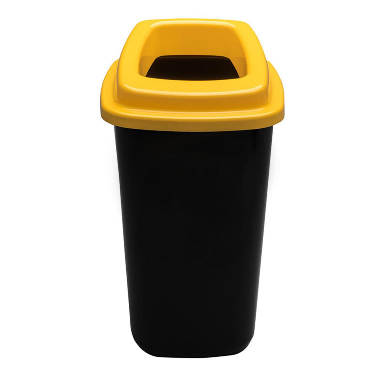 Plastový kôš na triedený odpad, 45 l, žltá