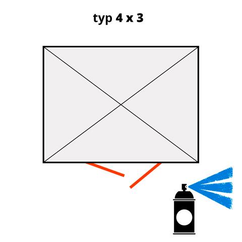 Dodatočný náter pre ekosklady 4 × 3 - modrá (RAL 5015)