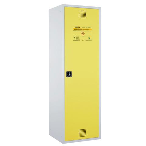 Certifikovaná uzamykateľná skriňa - žltá