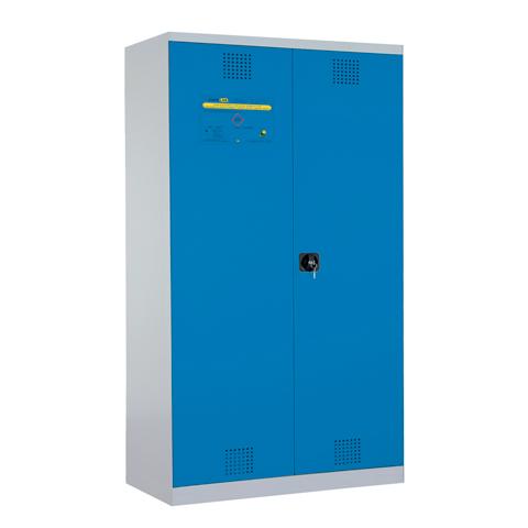 Certifikovaná uzamykateľná skriňa - modrá