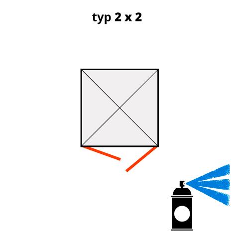 Dodatočný náter pre ekosklady 2 × 2 - modrá (RAL 5015)