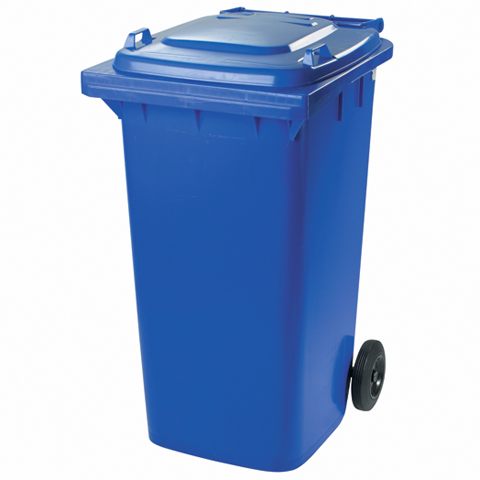 Plastová nádoba s kolieskami modrá
