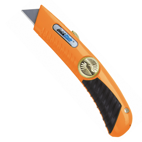 Pracovný nôž s čepeľou na pružine