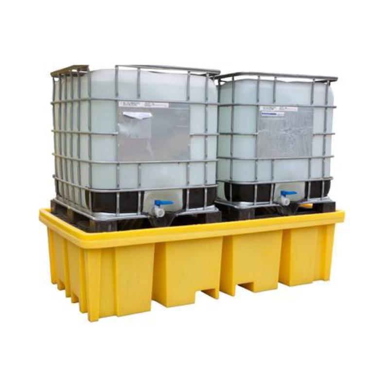 Záchytná vaňa pod 2 IBC kontajnery s roštom