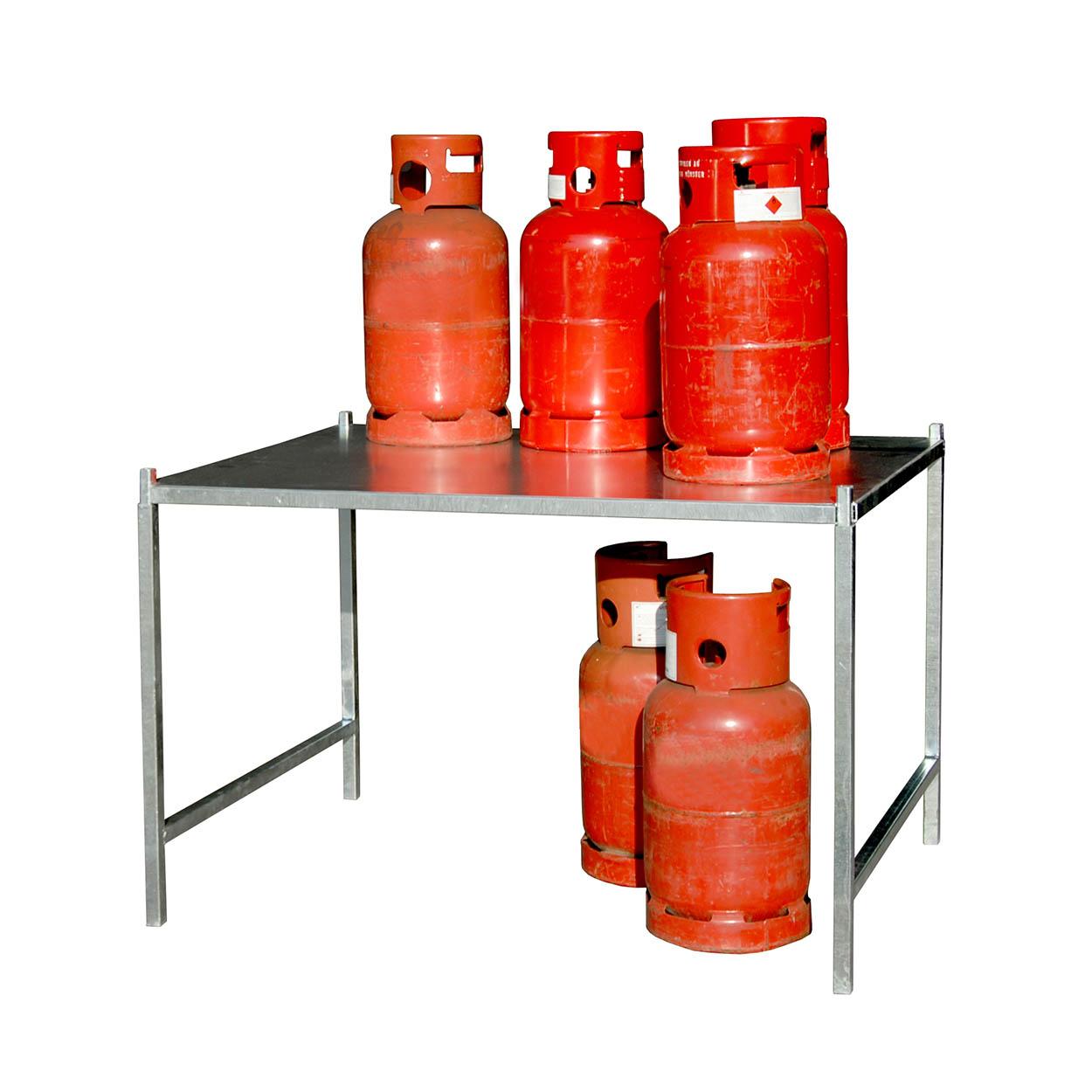 Regál pre klietky pre skladovanie tlakových fliaš