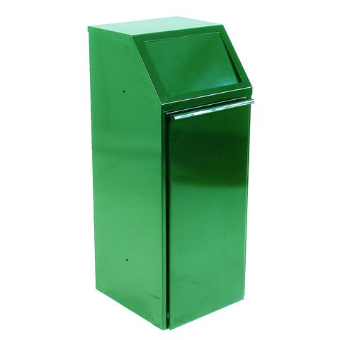 Kovový výklopný kôš 64 l, zelený