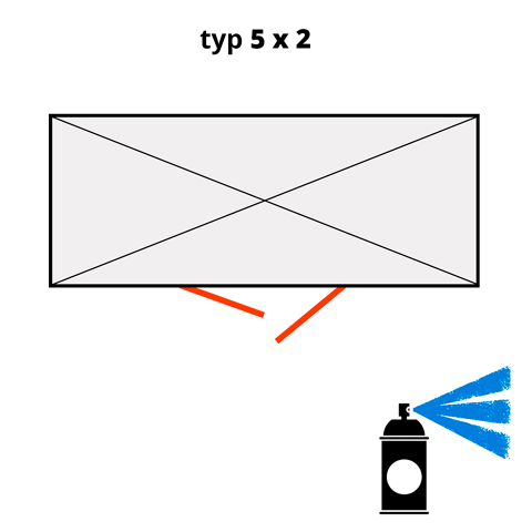 Dodatočný náter pre ekosklady 5 × 2 - modrá (RAL 5015)