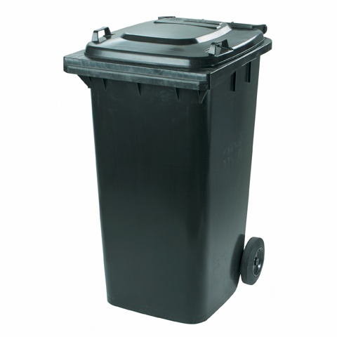 Plastová nádoba s kolieskami čierna