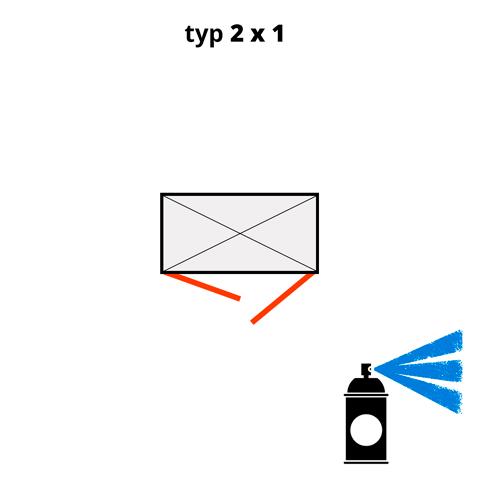 Dodatočný náter pre ekosklady 2 × 1 - modrá (RAL 5015)