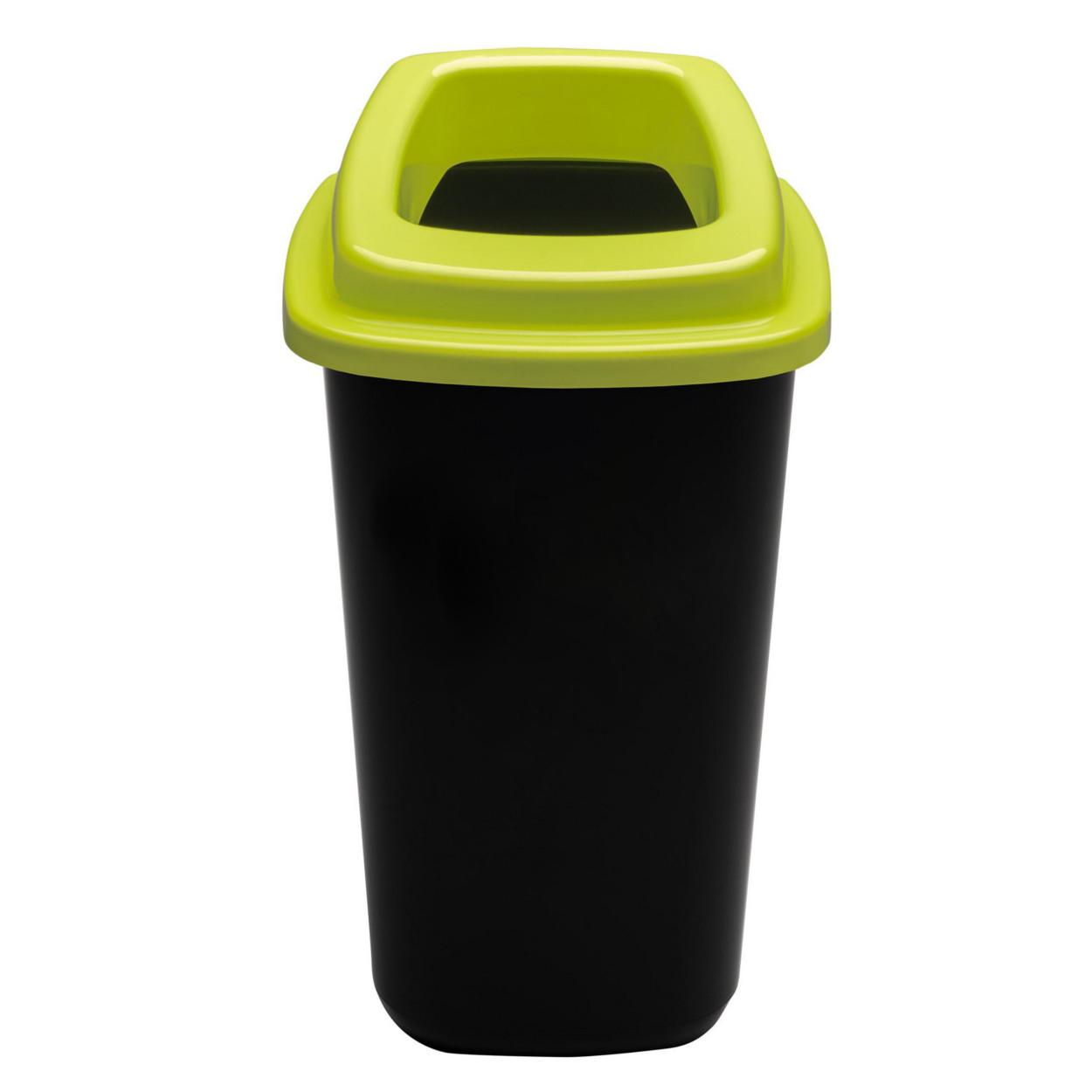 Plastový kôš na triedený odpad, 45 l, zelená