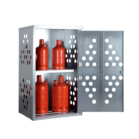 Skriňa na vonkajšie skladovanie malých tlakových fliaš