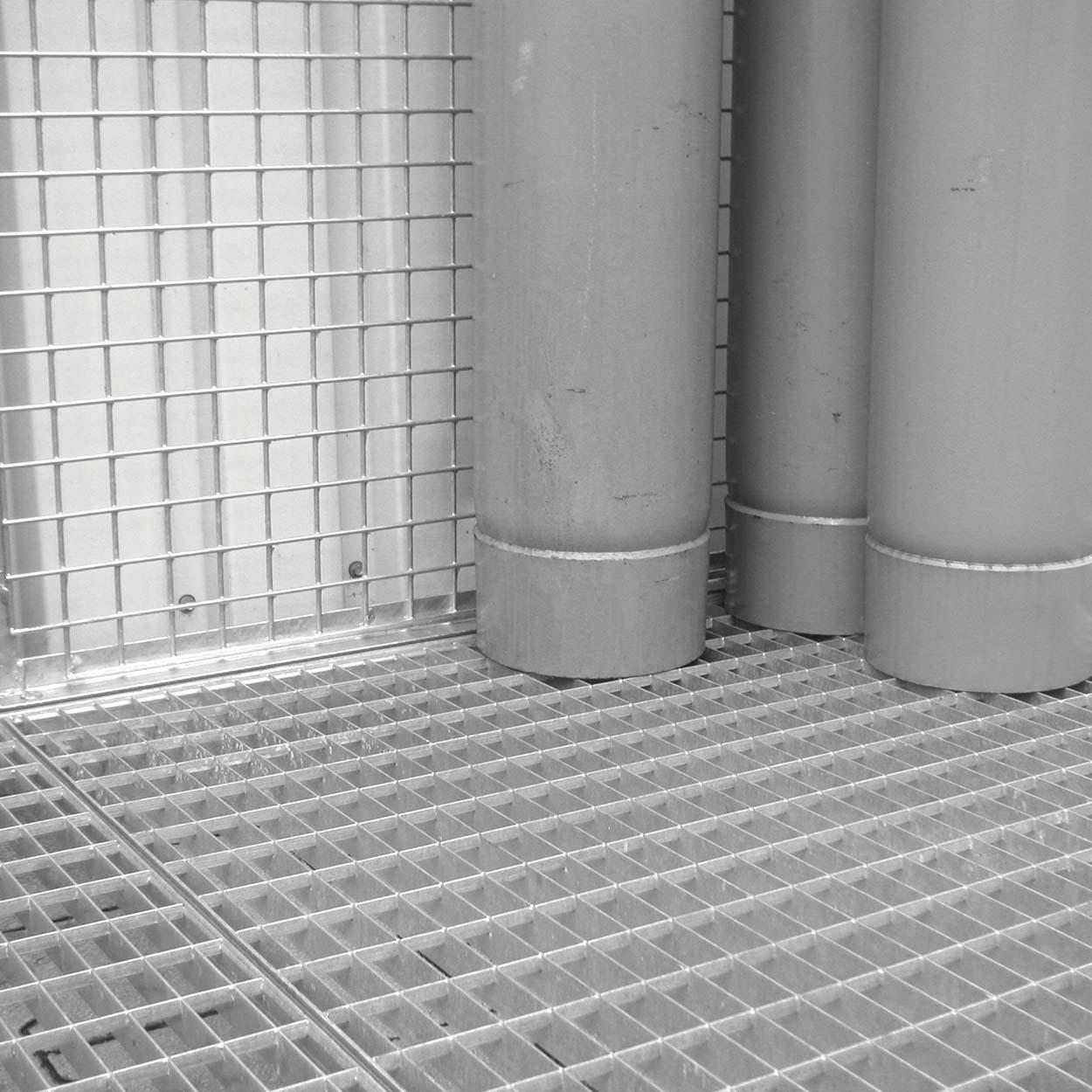 Roštová podlaha pre klietky pre skladovanie tlakových fliaš