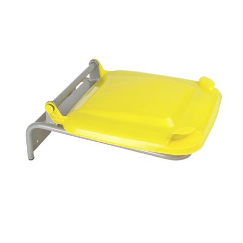 Držiak na vrecia s plastovým vekom, žltý