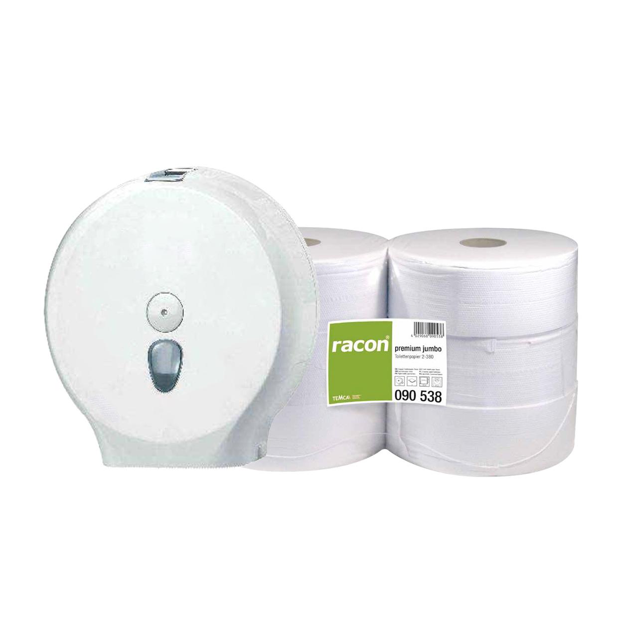 Set toaletných papierov Jumbo a zásobníka