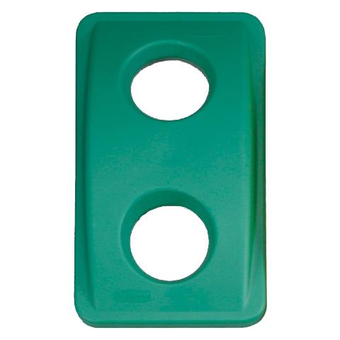 Veko s guľatými otvormi zelené