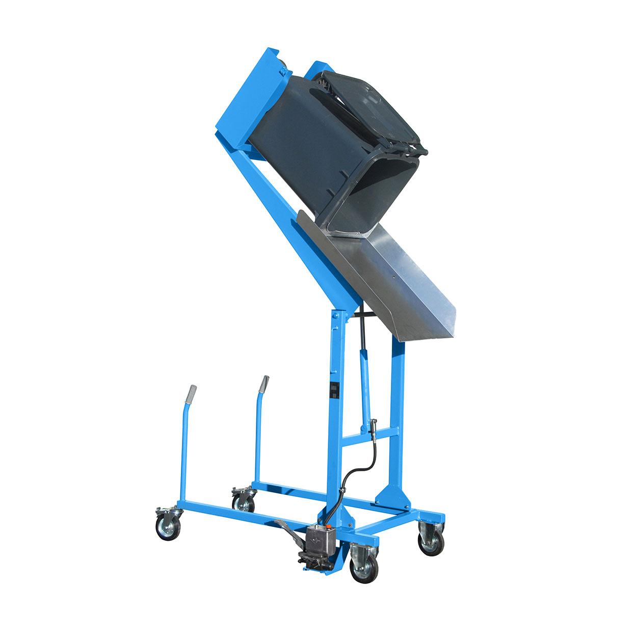 Pojazdný vyklápač odpadkových košov - nášľapná pumpa