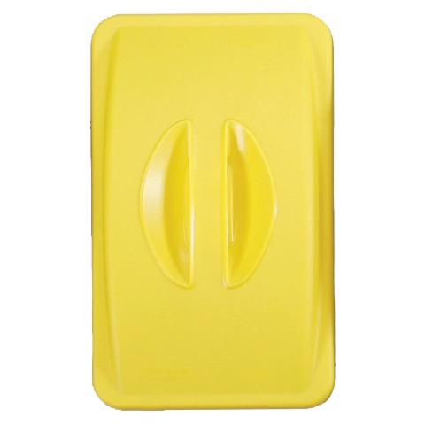 Veko s madlom bez otvoru žlté