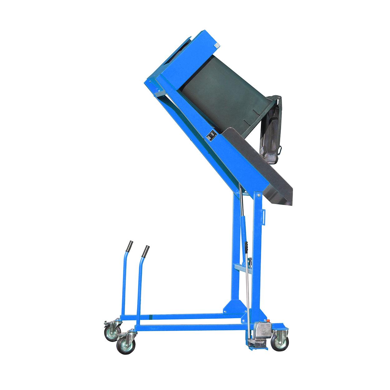 Pojazdný vyklápač odpadkových košov - ručná pumpa