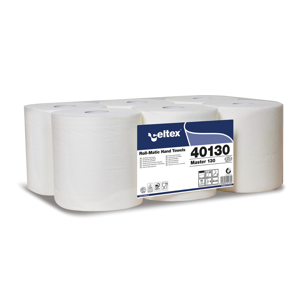 Papierové utierky v rolke, biele
