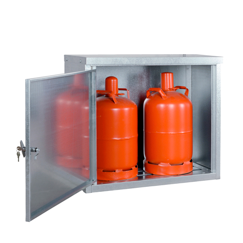 Skriňa pre skladovanie malých tlakových fliaš