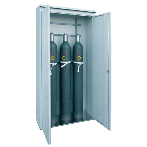Skriňa pre skladovanie tlakových fliaš