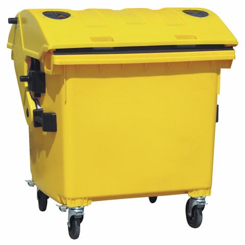 Plastový kontajner s otvorom na plasty, so zámkom