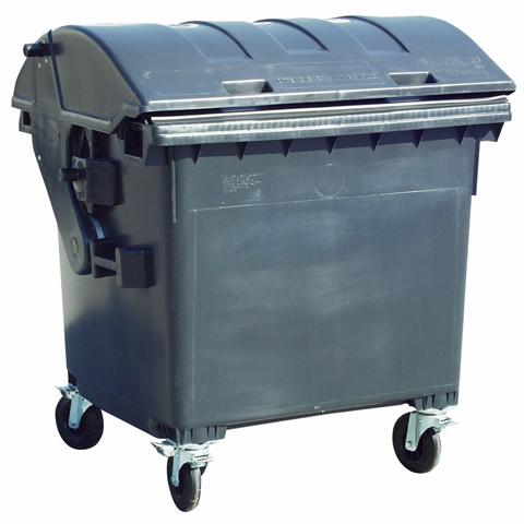 Plastový veľkoobjemový kontajner s klenutým vekom
